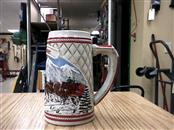 BUDWEISER Glass/Pottery STEINS